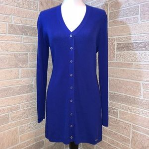 Calvin Klein Royal Blue V-neck Sweater Dress